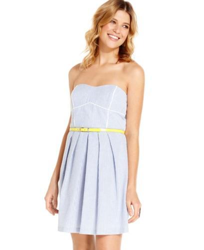 da0e4fa02 BCX Juniors Dress, Strapless Seersucker Belted A-Line for sale in Athens,  Georgia