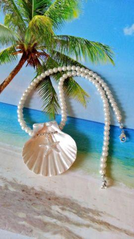 Beach Christmas Ornaments, Jewelry and Seashell Crafts