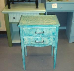 Beachy MID MOD Night Stand or End Table Funky Monkey -
