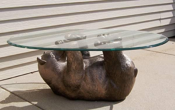 Bear Cub Glass Coffee Table For Sale In Bemidji