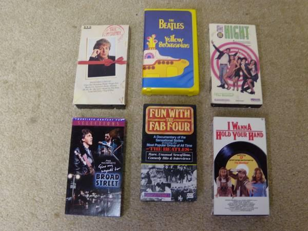 BEATLES records and vhs movies