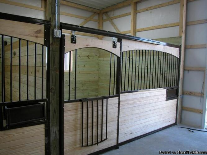 Beautiful 12 Foot Arched Wood Horse Stall Fronts For Sale