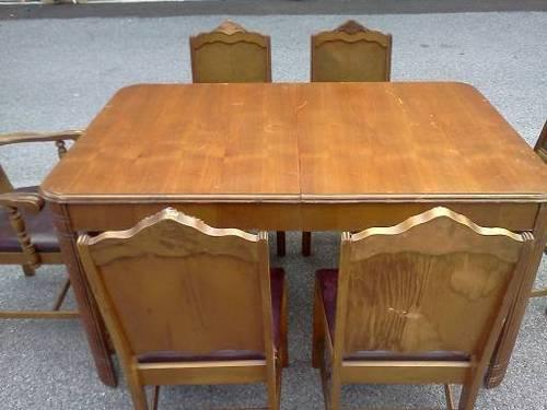beautiful 1930 to 1940 Bassett 7 piece dining room set