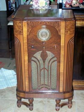 Beautiful 1935 Stewart Warner Quot Magic Dial Quot Console Radio