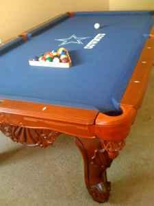 Beau Beautiful 8 Foot Cowboys Pool Table   $1700 (GCS)