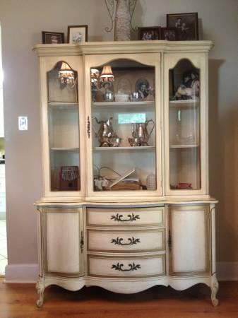 Beautiful Antique French Provincial China Cabinet For