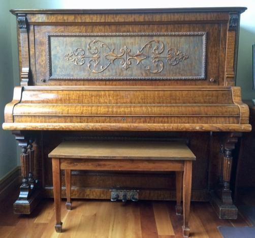Beautiful Antique Schaeffer Upright Piano Aspen Valley