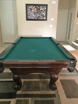 Beautiful Classic Pool Table With Accessories For Sale In