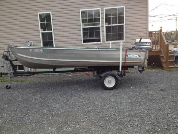 Beautiful Condition Sea Nymph 14 ft  Deep V 25 HP Evinrude &Trailer - $2050