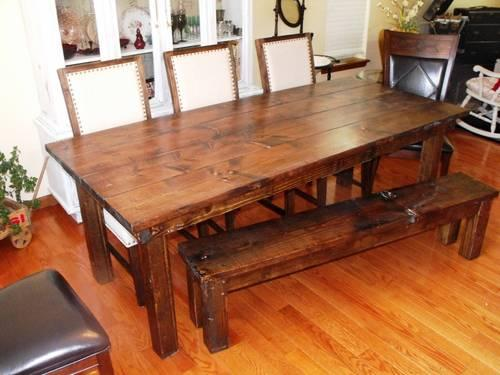 Beautiful Custom Farmhouse Dining Tables and Country Style Beds for Sale in D