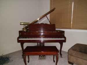 Beautiful Dark Mahogony Baby Grand Piano - $4000 White City