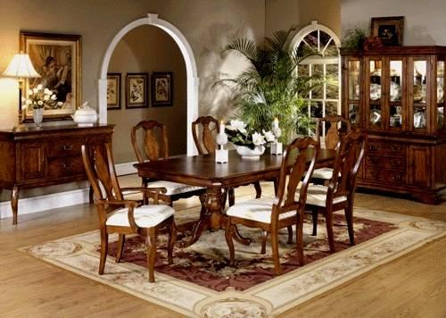 Beautiful dining room set cherry wood for sale in for Cherry wood dining room set