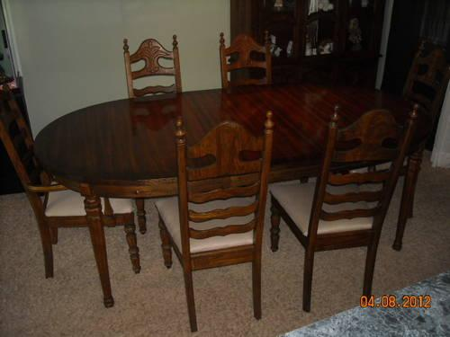 beautiful dining room set table chairs and hutch for sale in