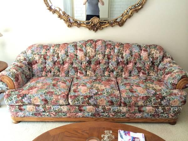 beautiful floral sofa