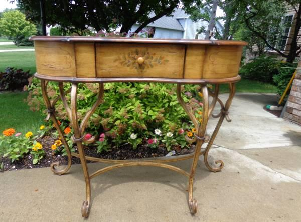 Foyer Table For Sale : Beautiful foyer table iron legs wiped w gold for sale in