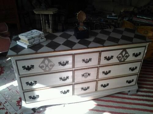 Beautiful Hand Painted Harlequin Console For Sale In Ponte Vedra Beach Florida Classified