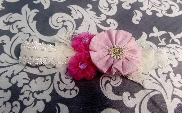 Beautiful Handmade Baby Headbands  Tutus - $1