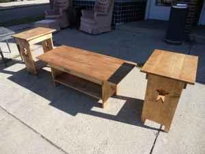 Beautiful Handmade Primitive Coffee Table Sets J J Used Furniture On High St For Sale In