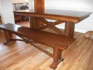 hardwood dining table and bench for sale flagstaff for sale
