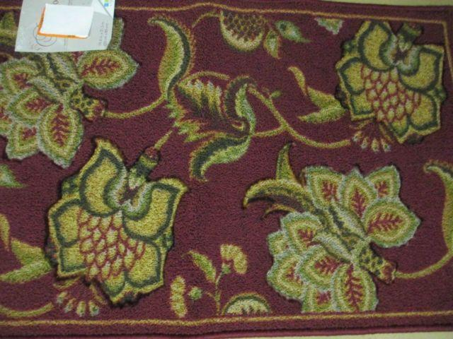 BEAUTIFUL HOME DYNAMIX BURGANDY BEIGE OLIVE AREA RUG 27X17 LOT8162