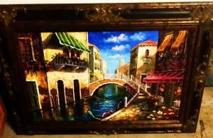 Beautiful Italian Hand Painted Oil Picture w/C.O.A. -