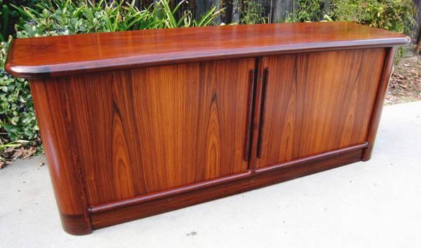 Danish Credenza For Sale : Beautiful kibaek high end rosewood danish modern sideboard
