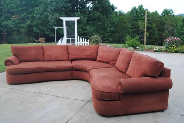 Tremendous Beautiful Large Bernhardt Curved Sectional For Sale In Spiritservingveterans Wood Chair Design Ideas Spiritservingveteransorg