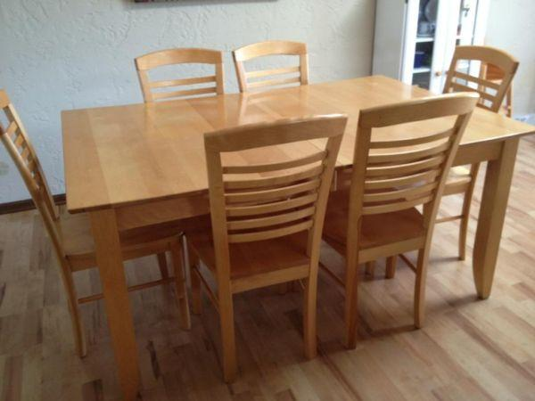Beautiful Maple Table 6 Chairs Zeeland For Sale In Holland Michigan Classified