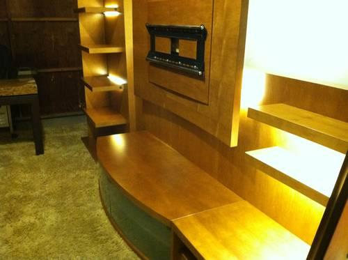 Beautiful Real Wood 12 Ft Long Entertainment Center With