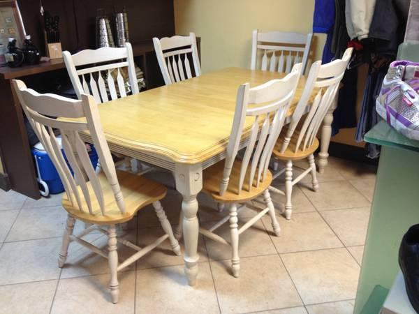 Beautiful rooms to go 6 chair dining set w leaf solid oak