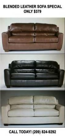 Beautiful Sofa Made Of Blended Leather 379