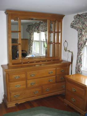 beautiful solid oak bedroom set for sale in chester new york