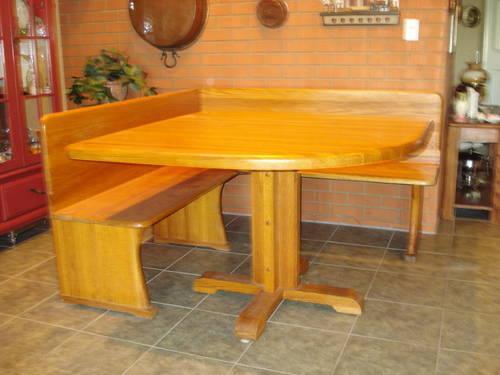 beautiful solid oak corner dining set for sale in