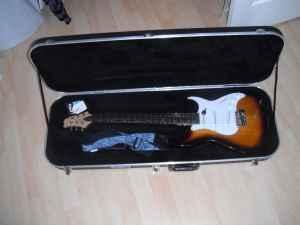 Beautiful Sunburst Electric Guitar, Case, and Small Amp GREAT SHAPE - $400 Tudor