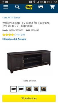 Beautiful tv/media Stand holds 70 inch tv BRAND NEW