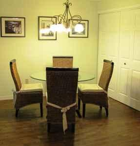 Beautiful Wicker Dining Kitchen Room Table With Glass