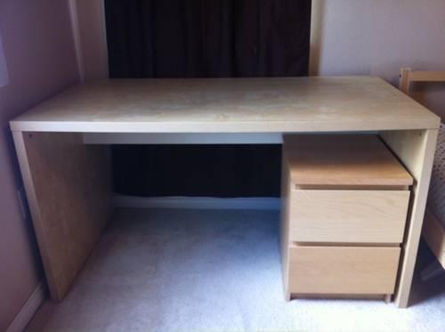 bedroom set (desk, nightstand, dresser, bed frame, mattress) for Desk and Nightstand Set