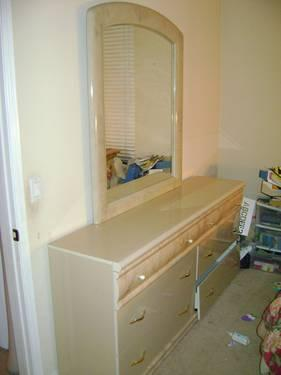 Bedroom set dresser mirror and armoire for sale for for Large bedroom mirrors for sale