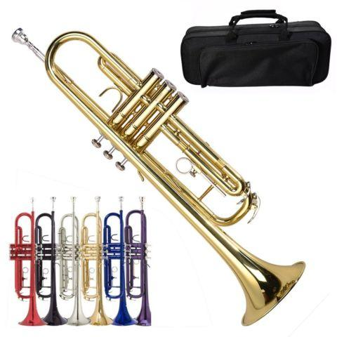 beginner trumpet in gold w case gloves with care kit brand new for sale in ontario california. Black Bedroom Furniture Sets. Home Design Ideas