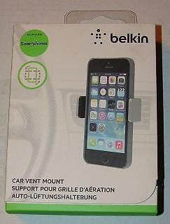 belkin Smartphone Car vent mount. Black. New