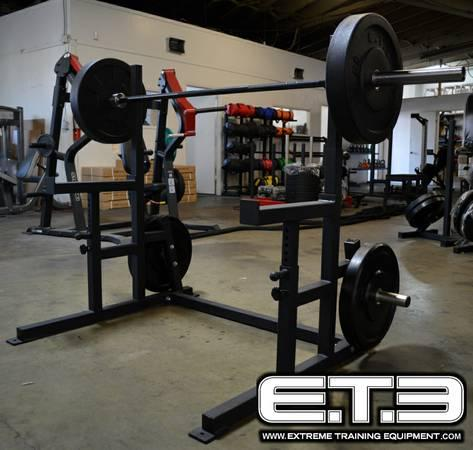 bench press with plate holders squat rack usa made gym