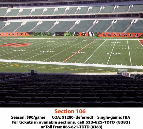 Bengals season tickets - $90