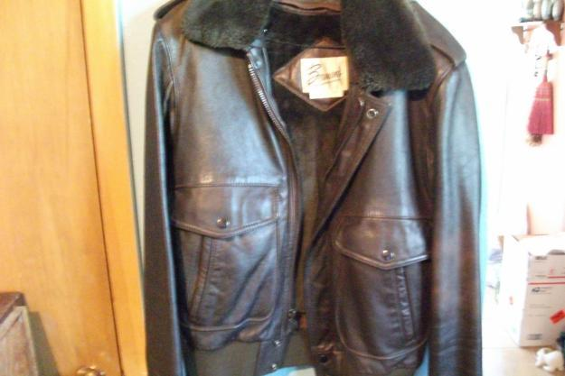 BERMANS LEATHER BOMBER JACKET