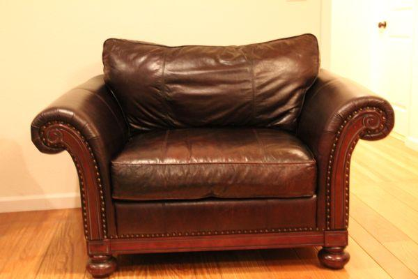Bon Bernhardt Leather Chair   $1200