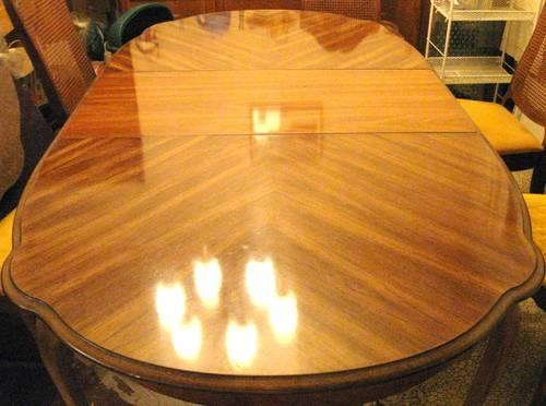 Bernhardt Round Oval Dining Room Table Set Vintage Antique 1970s For Sale In Lakeview