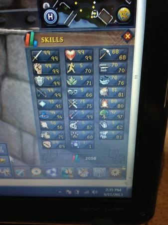 Best deal ever max lvl rs acc lots of 99z - $150