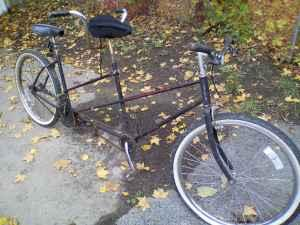 BICYCLE FOR 2 TANDEM antique rollfast - $125 henn
