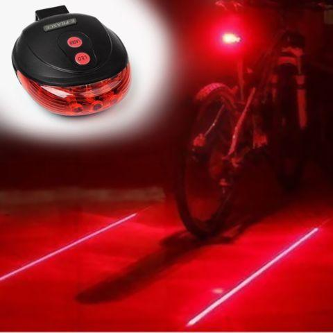 Bicycle LED Light 2 Lasers Night Cycling Bike Backlight