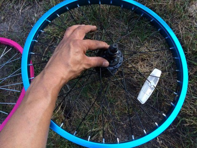 Bicycle parts: rims wheels tires