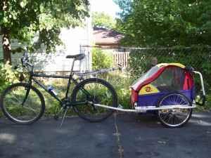 Bicycle Trailer Child Fits 2 Kids Bike Trailor Stroller